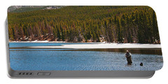 Portable Battery Charger featuring the photograph Fishing In Winter by Mae Wertz