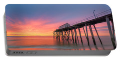 Fishing Pier Sunrise Portable Battery Charger by Michael Ver Sprill