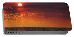 Fishing Till The Sun Goes Down Portable Battery Charger
