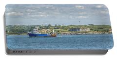 Portable Battery Charger featuring the photograph Fishing Trawler Coming Into Port by Jane Luxton