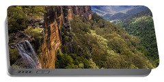 Fitzroy Falls In Kangaroo Valley Australia Portable Battery Charger by David Smith
