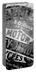 Portable Battery Charger featuring the photograph Five Gallon Motorcycle Oil Can by Wilma  Birdwell