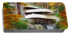 Fixer Upper - Square Version - Frank Lloyd Wright's Fallingwater Portable Battery Charger