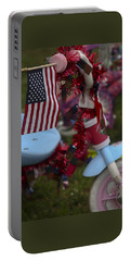 Portable Battery Charger featuring the photograph Flag Bike by Patrice Zinck