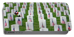 Portable Battery Charger featuring the photograph Flags Of Honor by Ed Weidman