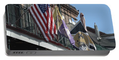 Flags On Bourbon Street Portable Battery Charger