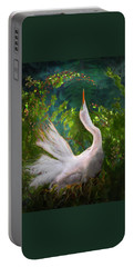 Flamboyant Egret Portable Battery Charger