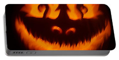 Flame Pumpkin Portable Battery Charger