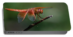Flame Skimmer Dragonfly Portable Battery Charger by Linda Villers