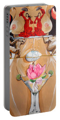 Flamenco Of Fertility  Portable Battery Charger by Lazaro Hurtado