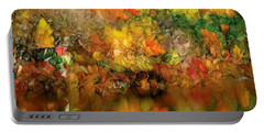 Flaming Autumn Abstract Portable Battery Charger