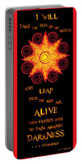 Flaming Celtic Sun Portable Battery Charger