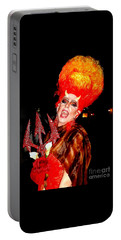 Halloween Flamming Devilish Deva Costume In The French Quarter Of New Orleans Portable Battery Charger