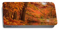 Flaming Leaves Portable Battery Charger by Lourry Legarde