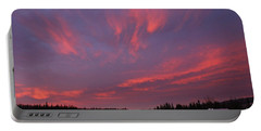 Flaming Morning Sky Portable Battery Charger