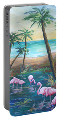 Flamingo Beach Portable Battery Charger