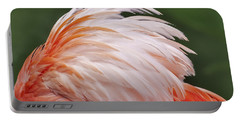 Flamingo Feathers Portable Battery Charger by Susan Candelario