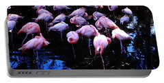 Portable Battery Charger featuring the photograph Flamingo - Florida - Animals by Susan Carella