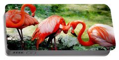 Flamingo Friends Portable Battery Charger