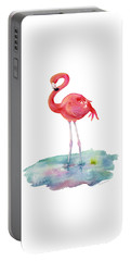 Flamingo Pose Portable Battery Charger