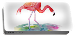 Flamingo Step Portable Battery Charger by Amy Kirkpatrick