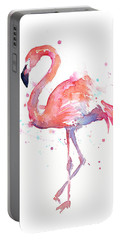 Flamingo Watercolor Portable Battery Charger