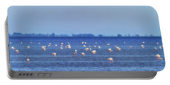 Flamingos In The Pond Portable Battery Charger