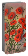 Flander's Poppies Portable Battery Charger