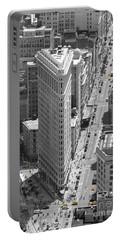 Flatiron Building Portable Battery Charger by Randi Grace Nilsberg