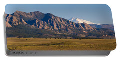 Flatirons And Snow Covered Longs Peak Panorama Portable Battery Charger by James BO  Insogna