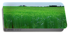 Flax Crop In A Field, Saint-aubin Portable Battery Charger