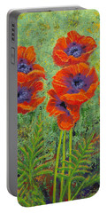Fleurs Des Poppies Portable Battery Charger by Margaret Bobb