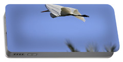 Portable Battery Charger featuring the photograph Flight Of The Egret by Penny Meyers