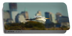 Flight Of The Great Egret Portable Battery Charger