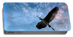 Flight Of The Heron Portable Battery Charger by Bob Orsillo