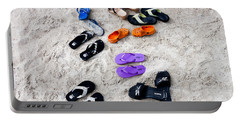 Flip Flops On The Beach Portable Battery Charger