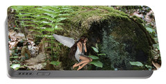 Floating Fairy In Forest Portable Battery Charger