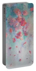 Floating Flowers Painting Portable Battery Charger