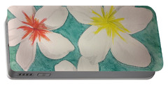 Floating Plumeria Portable Battery Charger