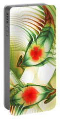 Portable Battery Charger featuring the digital art Floating Thoughts by Anastasiya Malakhova