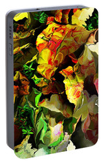 Portable Battery Charger featuring the digital art Floral 082114 by David Lane