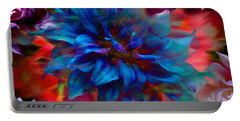 Floral Abstract Color Explosion Portable Battery Charger by Stuart Turnbull