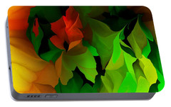 Portable Battery Charger featuring the digital art Floral Abstraction 090814 by David Lane