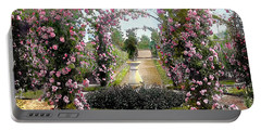 Floral Arch Portable Battery Charger by Terry Reynoldson