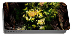 Portable Battery Charger featuring the digital art Floral Expression 020215 by David Lane