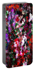 Floral Expression 021015 Portable Battery Charger by David Lane