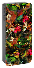 Portable Battery Charger featuring the digital art Floral Expression 121914 by David Lane