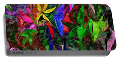 Portable Battery Charger featuring the digital art Floral Fantasy 012015 by David Lane