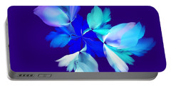Portable Battery Charger featuring the digital art Floral Fantasy 012815 by David Lane