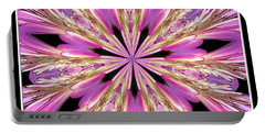 Portable Battery Charger featuring the photograph Floral Kaleidoscope  Waterlily by Rose Santuci-Sofranko